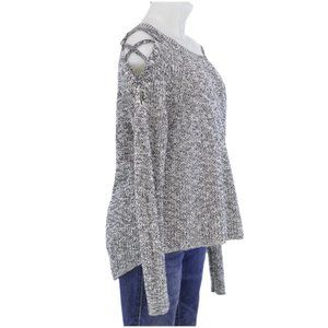 Express Marbled High Low Sweater (M)